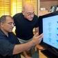 Vikram Bajaj (left) and Alexander Pines developed a remote NMR/MRI technology that received a 2011 R&D 100 Award. (Photo by Roy Kaltschmidt, Berkeley Lab)